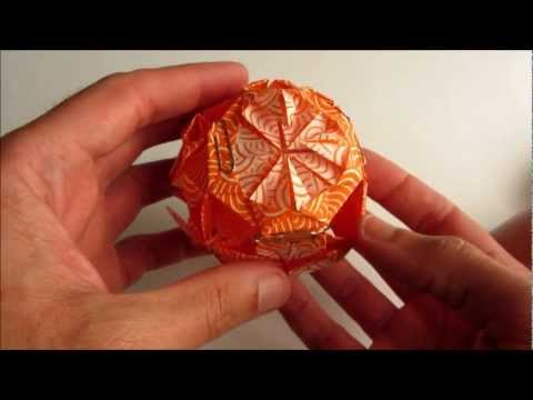Kusudama Tutorial - 004 -- Chrysanthemum Flower