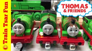"""In this video we show you our Percy the Small Engine locomotive collection. One of our favorite Thomas the Tank Engine characters so we have a lot! Many were won in Leokimvideo giveaway:Leo's video: https://youtu.be/0M_sv5gcEjcMy haul: https://youtu.be/pzacF7cgM_EMy contest entry: https://youtu.be/BvTI8Es25l0But we have acquired many, many more! Which is your favorite?Kid and family friendly videos about toy trains, real trains, and more!Thomas the Tank Engine, Chuggington, LEGO trains, and more fun!Please SUBSCRIBE for more Train fun: http://bit.ly/1v93HUTMy LEGO Channel: http://www.youtube.com/user/bricktsarMy Toys Channel: http://www.youtube.com/user/jolson37My Son: http://www.youtube.com/user/theymightbebricksMy daughter: http://www.youtube.com/user/sowhosthatgirlMrs. BrickTsar: http://www.youtube.com/user/seagrove697My Website: http://www.traintsarfun.comHelp support our channel by buying on Amazon: http://amzn.to/2aUvc1fLEGO on Amazon: http://amzn.to/2aEgHxVInstagram: http://www.instagram.com/traintsarfunFacebook: http://www.facebook.com/traintsarfunTwitter: http://www.twitter.com/traintsarfunRoyalty Free Music: """"Olde TImey""""Kevin MacLeod (incompetech.com)Licensed under Creative Commons: By Attribution 3.0http://creativecommons.org/licenses/by/3.0"""