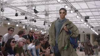 The Louis Vuitton Men's Spring-Summer 2018 Fashion Show by Kim Jones live from the Palais Royal in Paris, France with...