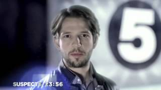 A cool credits squeeze to ident transition that Channel 5 created to launch Suspects, their first original drama series in eight years, on Wednesday 12th February 2014.