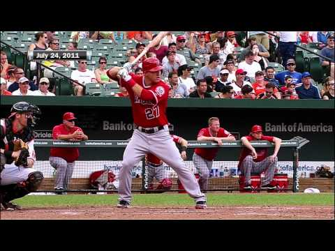 trouts - Scotts looks back on the first home run of Mike Trout's career on July 24, 2011.