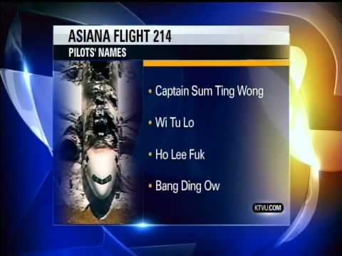 KTVU - News cast from KTVU News in Oakland CA. Asiana flight pilots names. Are you serious???