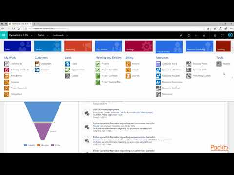 Getting Started with Dynamics 365 Customer Engagement: What is Dynamics for Project  packtpub.com