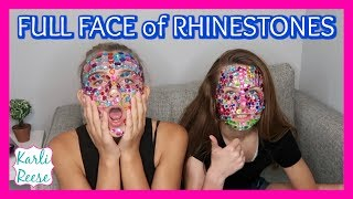 """Karli Reese and her friend Audrey try out the Full Face Rhinestone Challenge! Be sure to vote who you think did best in the poll!♥  SUBSCRIBE!   http://bit.do/karlireeseI post new videos every Friday!Watch my last video - https://youtu.be/rtJftLCLm3E1 Year Ago - https://youtu.be/-4-MgyqUK9UDaily videos at my Our Family Nest - http://youtube.com/ourfamilynestMy Mom's Channel - http://bit.ly/2ffeAACMy Dad's Channel - http://bit.ly/2gh00roAndrew's Channel - I am Drew -  http://youtube.com/iamdrew95♥ FOLLOW ME ♥i  n  s  t  a  g  r  a  mhttp://instagram.com/karlireeset  w  i  t  t  e  rhttp://twitter.com/karlireesem u s i c a l y . l y24_karkar_24f  a  c  e  b  o  o  k http://facebook.com/iamkarlireeseb  l  o  g   http://karlireese.com*************************************************************♥ BUSINESS INQUIRIES ♥mail@ourfamilynest.com - Subject Line """"KarliReese""""*************************************************************Thank you for watching my video today! You can also find me on our family's channel - Our Family Nest.  On my channel you will find more of what I love... shopping, crafts, dance, gymnastics, and my pets…Pretty much anything girly! Thank you for stopping by and I hope you have fun here on my channel.Note... My YouTube channel is monitored and ran by my parents :)♥ Karli ReeseSome Music in videos by Epidemic Sound - http://www.epidemicsound.com"""