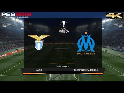 PES 2019 (PC) Lazio vs Marseille | UEFA EUROPA LEAGUE PREDICTION | 8/11/2018 | 4K 60FPS