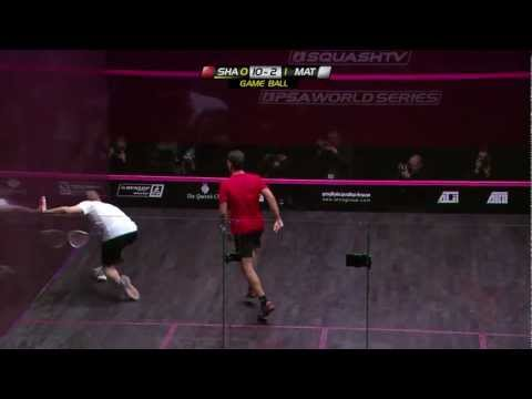 Shabana - Action from the men's final featuring Amr Shabana and Nick Matthew Watch PSA squash LIVE :http://www.psasquashtv.com/page/Live/ Download this match here : ht...