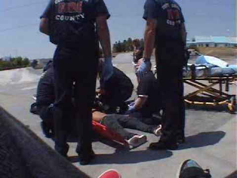 Joseph Parra after seizure