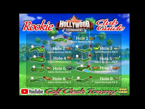 Golf Clash tips, CLUBGUIDE - Hollywood tournament, Rookie division
