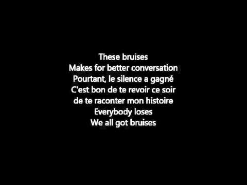Tekst piosenki TRAIN - Bruises (French Version) po polsku