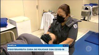 Marília: fisioterapeuta cuida de policiais com Covid-19