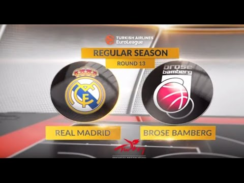 EuroLeague Highlights RS Round 13: Real Madrid 95-72 Brose Bamberg