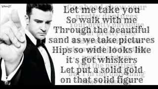 Justin Timberlake - Dress On ft. Timbaland ( Lyrics On Screen ) 2013 ( The 20 / 20 Experience )