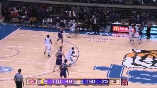 TSU Men's Basketball Highlights vs  Tennessee Tech   Feb 10 2016