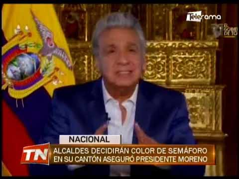 Alcaldes decidirán color de semáforo en su cantón aseguró presidente Moreno