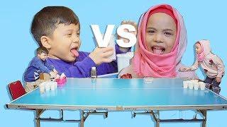 Video Bocah Minum Jamu Kocak!! | Qahtan VS Saleha Halilintar Jamu Pong Challenge MP3, 3GP, MP4, WEBM, AVI, FLV Maret 2019