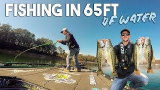 Video FISHING For BASS In 65ft Of Water !! (Deep Water Fishing) MP3, 3GP, MP4, WEBM, AVI, FLV Oktober 2018