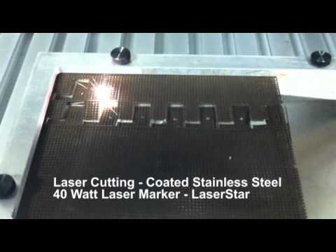 <h3>Laser Cutting - Stainless Steel Mesh </h3>In this laser marking video, we are laser cutting a pattern into stainless steel mesh using a 40 watt LaserStar laser marking system. This laser cutting uses a 5 second cycle time.<br><br>