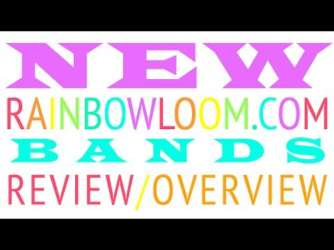 NEW RAINBOWLOOM.COM SILICONE BANDS REVIEW!