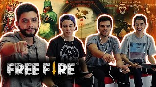 SQUAD DE FREE FIRE IMBATÍVEL? PLAYHARD ft. BELGAS E GELLI - SÓ AS LENDAS!!!