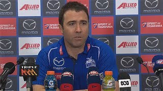 The North Melbourne coach chats to the media after the loss.