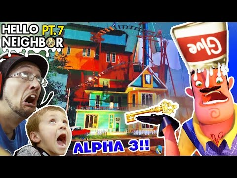 GOODBYE HELLO NEIGHBOR!! HORRIBLE Alpha 3 UPDATE? GLUE SMASHING + KEY Gameplay! (FGTEEV Part 7)