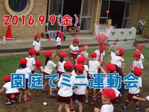 八幡保育園(福井市)園庭でミニ運動会2016開催!本番の雰囲気を感じながら異年齢児で楽しく競技を体験!