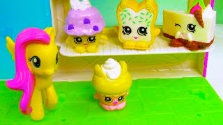 MLP Fluttershy Flutter Cake Shopkins Friendship My Little Pony Grocery Store Toy Playing