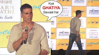 Video Akshay Kumar ANGRY On Reporters Embarrassing Questions & Walks Off From Stage MP3, 3GP, MP4, WEBM, AVI, FLV Oktober 2018