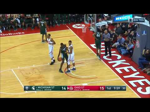 (NCAAM) #1 Michigan State Spartans at Ohio State Buckeyes in 40 Minutes (1/7/18)