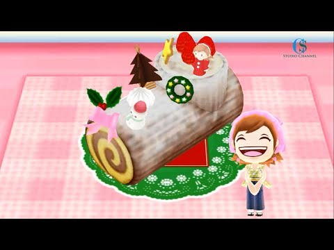 Yule Log Cake I Cooking With Cooking Mama!