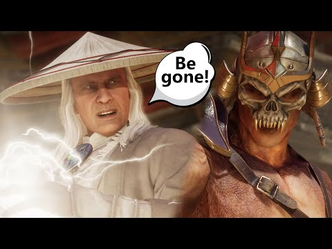 Mortal Kombat 11 - Old Raiden Confronts Villains