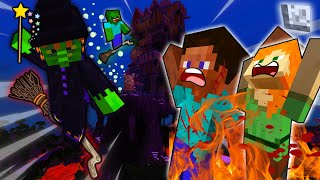 STEVE And ALEX BURNED By EVIL WITCH - MINECRAFT STEVE AND ALEX [261]
