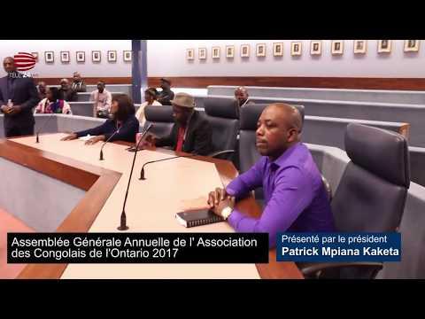 Télé 24 live: Assemblée Générale annuelle 2017 de l'association de congolais de l'Ontario (ACO)