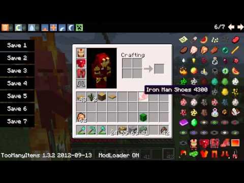 นำเสนอโหลดได้ mod Minecraft 1.3.2 mod IronMan
