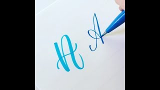 Video How to Write the Capital Alphabet (2 Styles) in Brush Lettering MP3, 3GP, MP4, WEBM, AVI, FLV September 2019