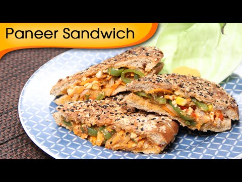 Paneer Grilled Sandwich – Quick And Healthy Breakfast / Lunch Box / Snack Recipe By Ruchi Bharani
