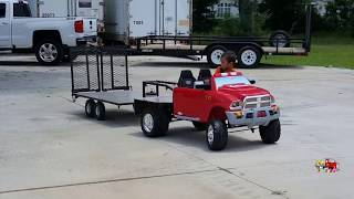 Hello kids, watch Kruz Playing And Backing Up His Custom Built Gooseneck Trailer. Thank y'all for watching! Don't forget to...