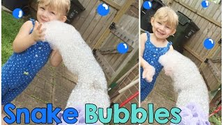 HOW TO MAKE SNAKE BUBBLES - YouTube