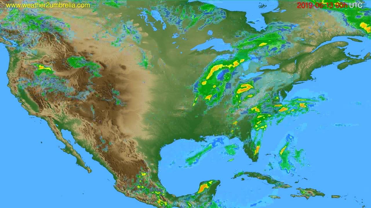 Radar forecast USA & Canada // modelrun: 12h UTC 2019-06-12