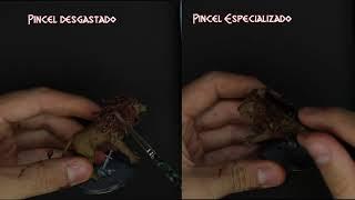 Pincel Seco - Como pintar miniaturas