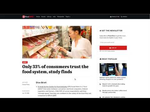 Only 33% of Americans Trust The Food System