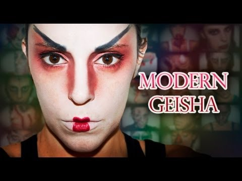 Carnival/Fantasy Make-up: Geisha With A Modern Twist  | Silvia Quiros