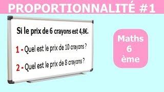 Maths 6ème - La proportionnalité 1 Exercice 8