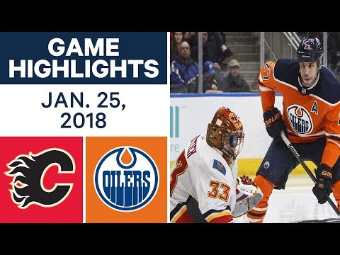 Video: NHL Game Highlights | Flames vs. Oilers - Jan. 25, 2018