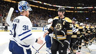 Bruins, Maple Leafs shake hands after Boston advances with Game 7 win by NHL
