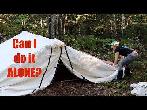 Putting up the Wall Tent, EPISODE 3, Cabin Build