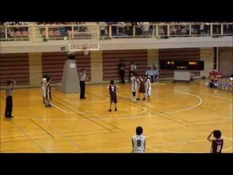 バスケットボール 女子 中学校 茨城県総体 県大会 滑川中VS神栖二中 2013 7 23