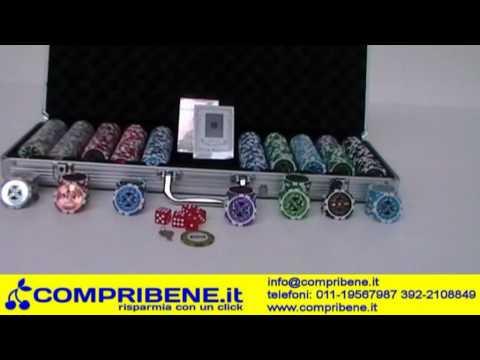 Poker Set 500 fiches laser chips texas hold'em