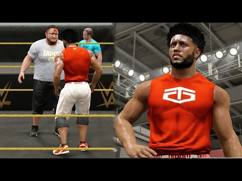 WWE 2k17 MyCAREER - Samoa Joe is Bloody! NXT Training Session Day 2! Ep. 2