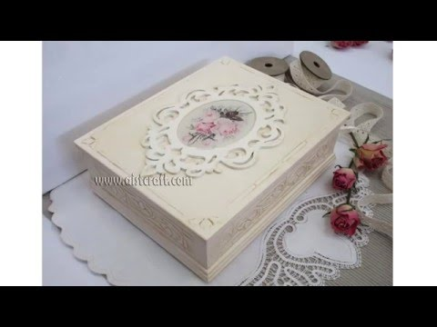 decoupage - bellissima scatola in stile shabby chic!